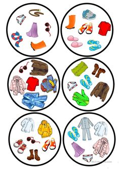 Clothes dobble game - English ESL Worksheets for distance learning and physical classrooms English Games, English Activities, Learning Activities, Vocabulary Activities, Teaching French, Teaching English, Teaching Spanish, Teaching Nouns, English Lessons