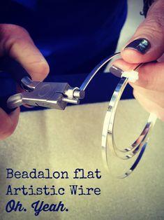 Beadalon flat Artistic Wire in silver