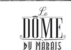 Le Dôme du Marais  53 Bis rue des Francs Bourgeois  Brunch 25€  01 42 74 54 17. A new Chef and design and obviously a brand new hipster logo.