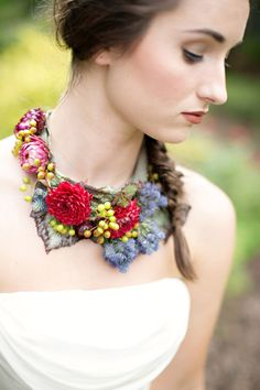 Floral necklaces,   #flowers #flower #jewelry #diyweddingapp #diy #wedding #diyweddingplanner #weddingapp
