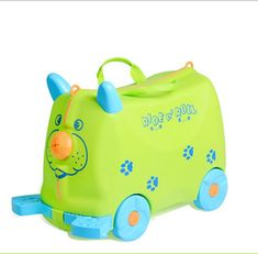 Lovely animal creative animal locker baby Toy box luggage suitcase1.8L boy Pull rod box Can sit to ride Check box children gift