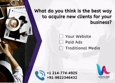 Best way to acquire new clients for your business What do you think is the best way to acquire new clients for your business Your Website SEO Lead Magnets Paid Ads Faceb. Direct Marketing, Social Media Marketing, Digital Marketing, Business Goals, Business Tips, Business Entrepreneur, Companies In Usa, Lead Magnet