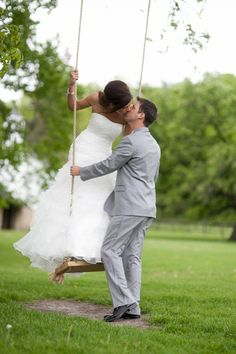 swing| Savor a quiet moment, like this stunning couple going for a swing during their wedding.