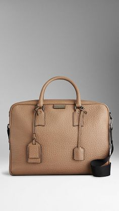 Signature Grain Leather Briefcase | Burberry