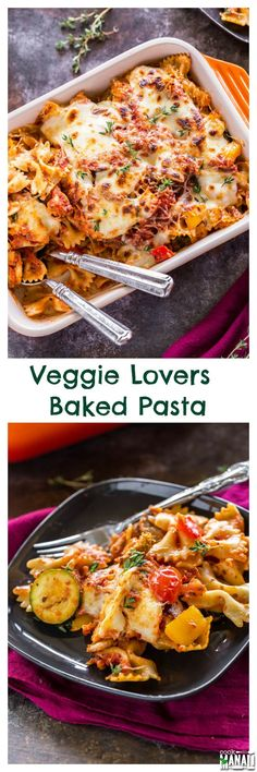Veggie Lovers Baked Pasta - this one is for all the veggie lovers! If you love your veggies, then you need to try this! Find the recipe on www.cookwithmanali.com