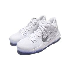 49499877572 Nike Kyrie 3 GS SZ 7Y White Chrome 859466-103  fashion  clothing