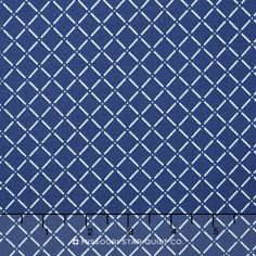 This fabric of diagonal grid white lines and crosses with blue centers would make for a perfect picnic blanket! Cushion Fabric, Picnic Blanket, Sunday, Fabrics, Basket, Cushions, Quilts, Rugs, Pattern