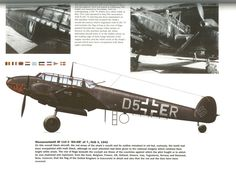 Bf-110 C № D5+ER of 7./NJG3, 1942.