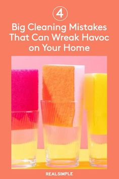 4 Common Cleaning Mistakes That Can Wreak Havoc on Your Home   To help avoid costly cleaning mishaps, we've rounded up a few common cleaning mistakes to avoid. Read these cleaning tips and smart advice that even the professional cleaners know to never do to keep any home look great. #cleaningtips #cleanhouse #realsimple #stepbystepcleaning #cleaninghacks #cleaningguide