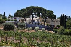 Sir Cliff Richard's winery in Guia, Algarve, Portugal. After putting it up for sale last year, Sir Cliff said: 'It is time to slow down the treadmill and hand over the dream to someone who can dedicate more time to this wonderful venture than we can'