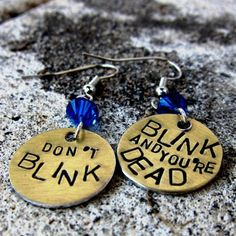 Blog post with Dr Who jewelry inc my Don't Blink earrings