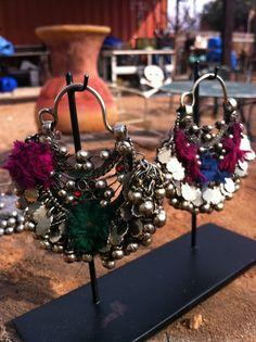 etsy vintage afghani earrings