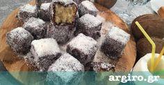 Lamingtons από την Αργυρώ Μπαρμπαρίγου   Ίσως το πιο δημοφιλές αυστραλιανό γλυκό. Αυστραλέζικα γλυκά κέικ με καρύδα γνωστά και ως χιονάτες. Δοκιμάστε τα!