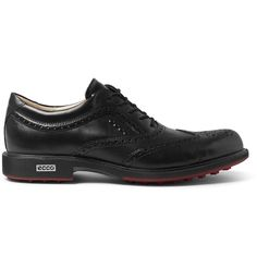 <b>Mr Karl Toosbuy founded family-run label Ecco in 1963 with the aim of creating the perfect footwear based on the principle of form following function.</b> - Detailed with classic broguing, these timeless black shoes will ensure you look smart on and off the green - The sleek hide upper is Hydromax treated to repel moisture - Soft leather linings assist temperature control - Gripped rubber soles have studs to provide a firm footing<br><br>