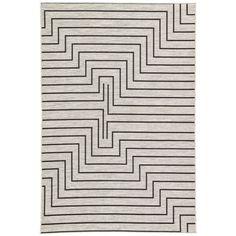 Nikki Chu by Jaipur Living Xantho Indoor/ Outdoor Geometric Silver & Black Area Rug - 9′ × 12′