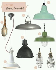 I love industrial lighting fixtures Decor, House Design, Interior, Vintage Lighting Diy, Vintage Industrial Lighting, Light Fixtures, Lights, Vintage Industrial, Vintage Lighting