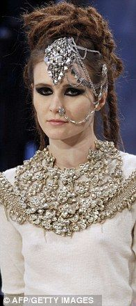 #Chanel Pre Fall 2012-Head jewellery were the order of the day.