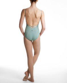 Women's NYCB Low-Back, String-Detail Pirouette Camisole Leotard | Danskin