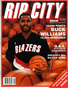 RIP CITY Magazine with Buck Williams on the cover Buck Williams, City Magazine, Portland Trailblazers, Trail Blazers, Rebounding, Oregon, Nba, Candy, Cover