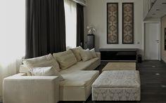гостиная: фото дизайна интерьера - автор Belugina+Partners