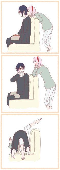Naruto - Sasuke and Sakura (nunca juegues con fuego o si 7u7??)