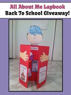 Giveaway - All About Me Back to School Activity Lapbook! All About Me Project, All About Me Book, Kindness Activities, Bubble Painting, First Day Of School Activities, 1st Grade Writing, Special Needs Kids, Beginning Of School, Bible Lessons