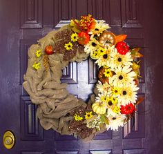 Fall Harvest Wreath by NiccoletasTrade on Etsy, $55.00