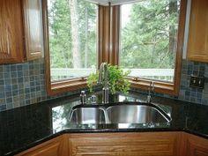 Black Corner Kitchen Sink