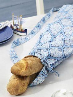 Bread bag - sewing Mit diesen tollen Brotbeuteln verschönern Sie jeden gedeckten Tisch. Hier gibt es die einfache Näh-Anleitung zum Download.