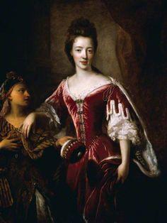 Lady Mary Herbert (1659–1744/1745), Viscountess Montagu  by François de Troy       Date painted: c.1689–1696