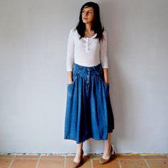 JORDACHE long denim skirt