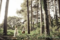 This forest handfasting is so cool!  I would love to have a traditional handfasting; I have always admired the tradition, and this couple makes it look like so much fun, too!