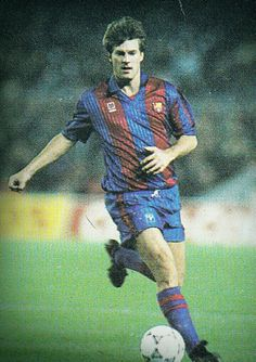 Michael Laudrup of Barcelona in Danish, 1980s, Superstar, Chelsea, Barcelona, Football, Fictional Characters, Soccer, Futbol