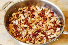 Pesto Chicken Pasta with Mushrooms