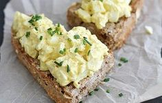 Mom's Egg Salad INGREDIENTS 8 eggs 3 tablespoons mayonnaise 2 tablespoons yellow mustard Dash garlic powder Dash salt Dash smoked (or regular) paprika Chopped chives and ground pepper, for topping (optional) add avocado to sandwich Egg Recipes, Salad Recipes, Cooking Recipes, Healthy Recipes, Chicken Recipes, Egg Salad Ingredients, Good Food, Yummy Food, True Food