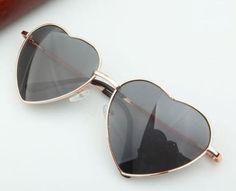 Heart-Shaped-Woman-Fashion-Accessories-Eyewear-Teen-Orange-Lens-Retro-Sunglasses