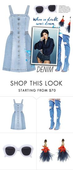 """""""Denim lover"""" by ainzme ❤ liked on Polyvore featuring STELLA McCARTNEY, Cape Robbin, CÉLINE and Lizzie Fortunato"""