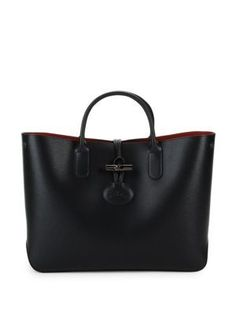 LONGCHAMP Roseau Leather Tote Bag. #longchamp #bags #leather #hand bags #tote #