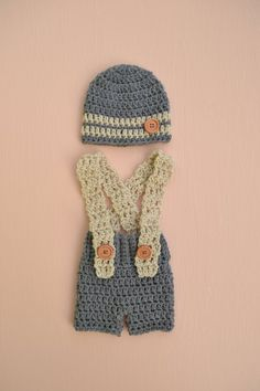 7deeb8b1265 Newborn Baby Boy Outfit Set Crochet Boy Outfit Crochet Newborn Baby Hat and  Pants Set Crochet Baby Boy Hat Baby Photo Shoot Outfit