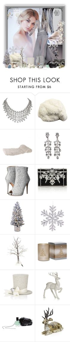 """""""Beautiful Christmas"""" by jewelsinthecrown ❤ liked on Polyvore featuring Stephane Rolland, Cartier, Lauren Lorraine, Judith Leiber, Primal Elements, Sherri's Designs, Disney, L'Oeil du Vert and Shea's Wildflower"""