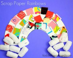 Scrap Paper Rainbow - who can ever get sick of rainbows??