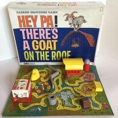 Hey-pa-There-039-s-a-Goat-on-the-Roof-Vintage-Parker-Brothers-Board-Game