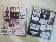 DIY Tumblr inspired notebooks