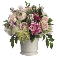 """Faux Peony & Rose Arrangement from the La Vie en Rose event at Joss and Main  --  106.95 retail  --  12.5"""" dia x 20.8""""h"""