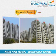#ConstructionUpdate We are very excited & Feeling Happy to update #RamkyOneKosmos Construction progress. Committed to Quality & Promising the Future. To know more info Visit – www.ramkyonekosmos.com