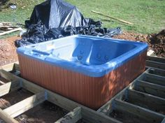 To Install a Hot Tub On A Deck experts make a deck complete by installing a hot tub. experts make a deck complete by installing a hot tub. Hot Tub Privacy, Jacuzzi Outdoor, Outdoor Spa, Piscina Spa, Whirlpool Deck, Sunken Hot Tub, Hot Tub Time Machine, Hot Tub Backyard, Floating Deck