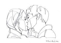 "borisschmitz: "" ""Kiss 53″, continuous line drawing by Boris Schmitz """