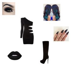 """""""Laxus Asks You Out"""" by maryvarleyrox ❤ liked on Polyvore featuring Balmain, Giuseppe Zanotti and Lime Crime"""