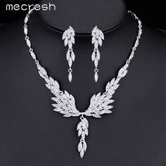 Check it on our site Mecresh Eagle Wing Shape Crystal Bridal Jewelry Sets Silver Color Wedding Necklace Set For Women Jewelry Accessories MTL431 just only $7.22 with free shipping worldwide  #weddingengagementjewelry Plese click on picture to see our special price for you