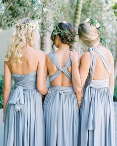 Our gorgeous Eliza & Ethan bridesmaid dresses! Can be wrapped over 40 styles and one size fits all // this allows all your brides maids to feel at ease by being able to chose a style that fits their body type & can wear it again after the wedding and wrap it up a different way #bride #bridesmaids #bridesmaid #bridesmaiddress #bridesmaiddresses #multiwaydress #elizaandethan #wedding #weddingday #bridetobe #madeofhonour